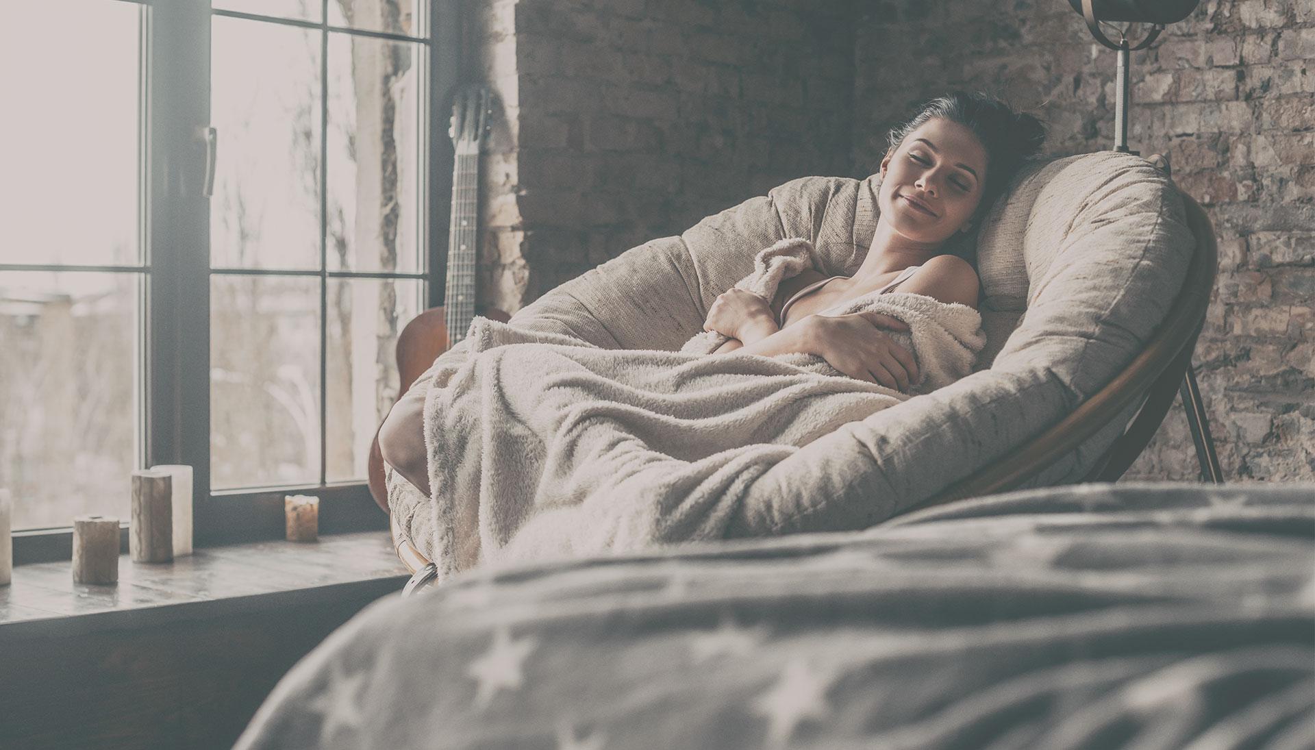 donna che si rilassa