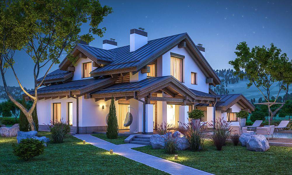 casa illuminata